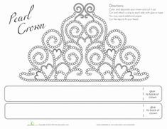 First Grade Paper Projects Worksheets: Printable Tiara