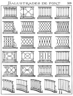 Victorian designs for gates and fences Staircase Railing Design, Balcony Railing Design, Window Grill Design, Gates And Railings, Deck Railings, Banisters, Wrought Iron Fences, Wrought Iron Staircase, Balustrades
