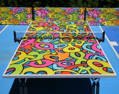 Ed Massey design – table tennis table; Game Room Basement, Playroom, Outdoor Rooms, Outdoor Ideas, Indoor Outdoor, Outdoor Ping Pong Table, Tennis Table, Design Table, Woman Cave