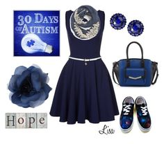 """Let's have HOPE"" by coolmommy44 ❤ liked on Polyvore featuring Closet, Evelyn K, Vans, Time's Arrow, Color My Life, autismawareness, LIGHTITUPBLUE and autismspeaks"