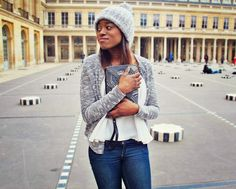 Veste pochette jean primark Paris // Dadadah by Anne Jennifer