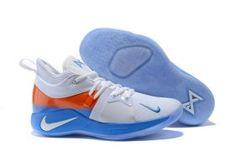 3b81fe0b948e Free Shipping Nike PG 2 EP White Orange Blue Men s Basketball Shoes Male  Sneakers Sneakers Nike