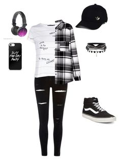 """""""sortie"""" by lola-madridista ❤ liked on Polyvore featuring River Island, Boohoo, Vans and adidas"""