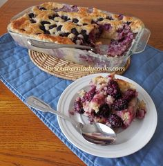 Blackberry Pudding: Though called a pudding, this dessert is more like a right-side-up upside-down cake. It's semi-traditional in the south. Cherries, blueberries, raspberries or a mixture may be substituted for the blackberries.