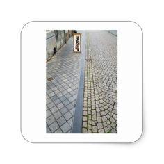 Dutch Photograph Brick Street Art Square Sticker - photographer gifts business diy cyo personalize unique