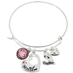 2 pieces 2 Share Mother and Daughter Interlocking Heart Charm Bangle Bracelet with Crystal *** Be sure to check out this awesome product.(This is an Amazon affiliate link and I receive a commission for the sales)