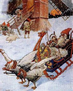 peintre illust jenny nystrom - Page 12 Swedish Christmas, Christmas Gnome, Scandinavian Christmas, Christmas Art, Vintage Christmas, Christmas Tables, Modern Christmas, Christmas Illustration, Illustration Art