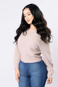 - Available in Taupe, Ivory, Burgundy, Dusty Pink and Black - Off the Shoulder - Long Sleeve - Thick Knit - 100% Acrylic