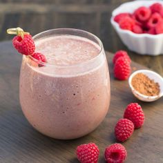 Chocolate Raspberry Protein Shake.