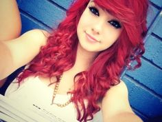 curly hair styles are trendy in modern years, Do you have long and curly hair? I searched for this on /images Curly Scene Hair, Red Scene Hair, Indie Scene Hair, Curly Hair Styles, Natural Hair Styles, Scene Bangs, Emo Scene, Flat Twist, Sisterlocks
