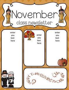 november newsletter templates free