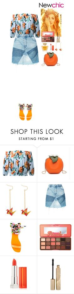 """""""NewChic Contest"""" by eliza-redkina ❤ liked on Polyvore featuring PRPS, Emilio Pucci, Too Faced Cosmetics, Maybelline, Stila, Lancôme, Summer, outfit, like and look"""