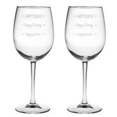 Happy Couple Wine Glass Set - Valentines Day gifts for boyfriend
