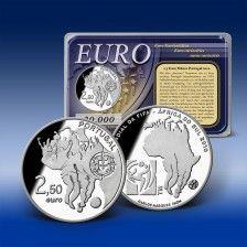 2,5 Euro Gedenkmünze  Portugal  FIFA  WM 2010