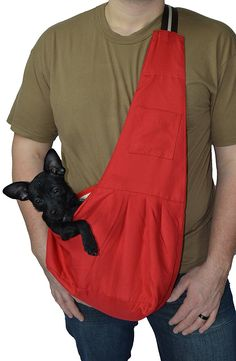 Red Pets Sling Carrier for Small Dog- Pet Cloth Totes and Carriers By Cozy Courier -Size Medium >>> See this great image  (This is an amazon affiliate link. I may earn commission from it)