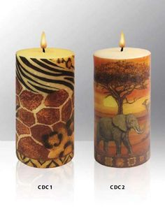Worx of Africa   Dinner and Decoupage Candles