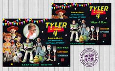 Toy Story 4 Birthday invitations - Toy Story Invitations - Toy Story Invitation - Toy Story Printable Invitations - Personalized Toy Story  by BestBirthdayParty, $6.30 EUR Toy Story Invitations, Custom Birthday Invitations, Printable Invitations, Invitation Design, Invites, Combined Birthday Parties, Chalkboard Invitation, Toy Story Birthday, Sibling