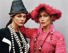 Vittoria Ceretti (left) for the Self Service #45 Fall/Winter 2016 issue, photographed by Alasdair McLellan and styled by Benjamin Bruno