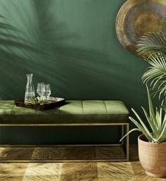Living Room Green, Green Rooms, Bedroom Green, Metal Walls, Metal Wall Art, Green Painted Walls, Dark Green Walls, Interior Decorating, Interior Design