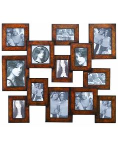 Classic Metal Photo Frame Wall Display in Rustic Brown - features a traditional style, making it an excellent addition for classic settings. These frames have a versatile appeal which makes them ideal for blending in with different kinds of decor. Designed with sleek lines and minimal detailing, the frames can complement all kinds of settings with ease. Made from top quality metal.