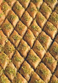 This recipe ticks all the criteria of a good baklava: crackly top, sweetened nut filling, and a chewy bottom with just the right amount of sugar syrup. Lebanese Baklava Recipe, Turkish Baklava, Lebanese Desserts, Lebanese Recipes, Turkish Recipes, Baklava Recipe Pistachio, Persian Recipes, Best Baklava Recipe, Gourmet