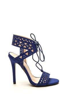 Geometry Course Cut-Out Heels ROYAL