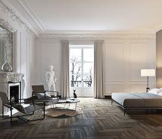 Home Decor Styles .Home Decor Styles House Design, Neoclassical Interior, House Interior, Living Room Decor, Bedroom Decor, Luxury Homes, Home, Interior, Bedroom Design