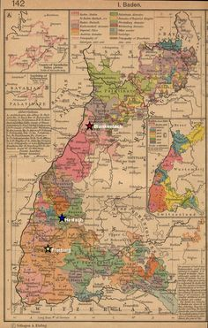 Map of Baden Germany in 1800