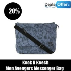 Kook N Keech Men Avengers Messenger Bag @ 20% Off