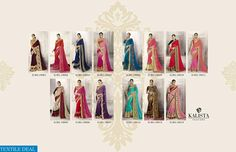 PRODUCT CODE: KALISTA IMPERIAL WHOLESALE DESIGNER WORK ETHNIC SAREE SUPPLIER RATE - 1199/- Catalog pieces: 14 Full Catalog Price: 16786 Price Per piece: 1199 MOQ: Full catalog Fabrics detail Saree :- designer Georgette and Silk  Work :- Embroidery,hand work,Stone work,lace border Shipping Time: 4-5 days With Blouse  VISITE OUR WEBSITE- http://webfab.in/wholesale-product/Sarees/kalista-imperial-wholesale-designer-work-ethnic-saree-supplier-kalista-imperial-full-catalog-set