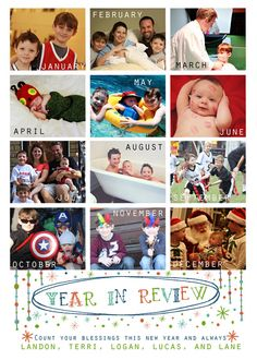 New Year's Card Photo Printable No 5 by TheMeekBoutique on Etsy, $15.00