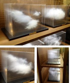 "Leandro Erlich's ""La Vitrina Cloud Collection"" manages to successfully capture the ephemerality of the subject matter. - paintings on glass"
