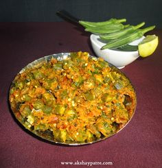 akshaypatre recipes: Kadai Bhindi Recipe - Kadai  Ladies finger /  bend...
