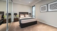 The large second bedroom has ample space for the growing teenager or a couple. #bedroom