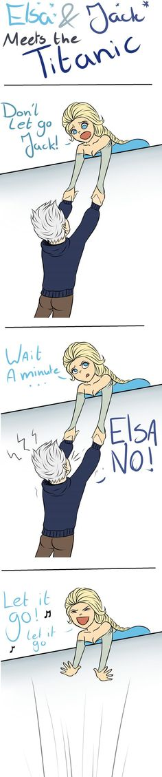 This is the perfect response to the Jelsa ship! XD (I am not a Jelsa fan) Disney Pixar, Walt Disney, Disney Jokes, Disney And Dreamworks, Cute Disney, Funny Disney, Elsa E Jack, Jack Frost And Elsa, Jelsa