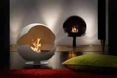 Vauni Fireplace: Trends 2012 Stylish Bio Ethanol Fireplace