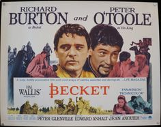 BECKET  Rare Original U.S. Half Sheet by ScreenlandMoviepaper