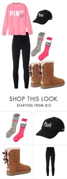 """How to wear Victoria's Secret PINK"" by leah-1x on Polyvore featuring Victoria's Secret, UGG and adidas Originals"