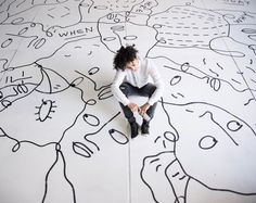 Day 1 shooting the inimitable Shantell Martin. She's laying her signature lines on Denver this week with her newest and largest piece to date.