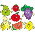 Cartoon Fruits Collection 2   Vector Illustration.