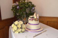 Camper van wedding cake Camper Van, Wedding Cakes, Desserts, Food, Wedding Gown Cakes, Tailgate Desserts, Starcraft Campers, Deserts, Camper