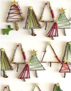 A wooden Christmas tree with colored wool thread – How to make a wooden Christmas tree – Elle – Christmas Crafts Handmade Christmas Decorations, Christmas Gift Wrapping, Christmas Crafts For Kids, Christmas Activities, Diy Christmas Ornaments, Best Christmas Gifts, Homemade Christmas, Simple Christmas, Holiday Crafts