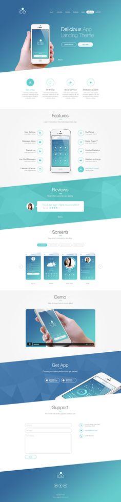 Mobile App Landing Theme design