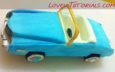 Sugarpaste Cadillac cake topper step by step