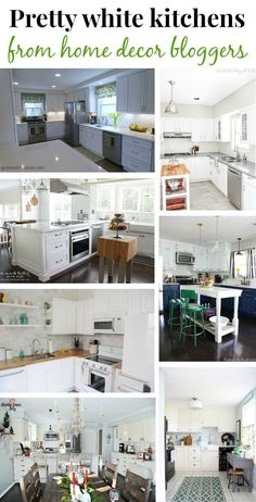 19 gorgeous white kitchens from talented bloggers. This makes me want to start our kitchen renovation right now! | Green With Decor