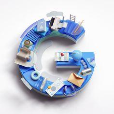 """via Muzli design inspiration. """"Weekly Design Inspiration is published by Muzli in Muzli - Design Inspiration. 3d Design, Logo Design, Graphic Design Print, Type Design, Logos Retro, Brand Campaign, Advertising Campaign, 3d Typography, Japanese Typography"""