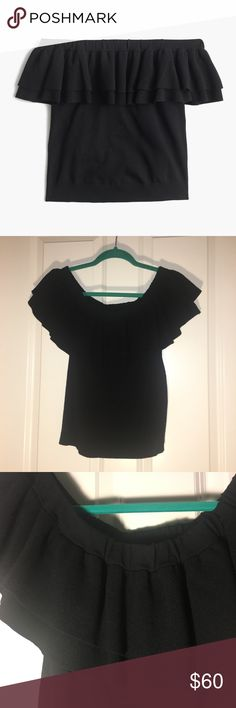 J. Crew - Off The Shoulder Sweater Item: J. Crew Off The Shoulder Sweater Condition: NWT Size: M Description: Retails $80 Measurements: Please Ask  Bundle Discount: 15% off 2+ Bundle Notes: Please use the offer button **Please read my closet rules / no trade rules before commenting**  Don't forget to play my FOLLOW GAME to help each other gain more followers! **Stock photo not my picture - found on Google images** J. Crew Sweaters