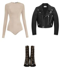 """Senza titolo #16"" by anna-1999 ❤ liked on Polyvore featuring Balmain and Yves Saint Laurent"