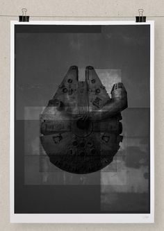 """MILLENIUM FALCON -   Hand numbered Archival Giclée print on A2 Hahnemuhle Photo Rag Fine Art Paper (16.5"""" x 23.4"""") 