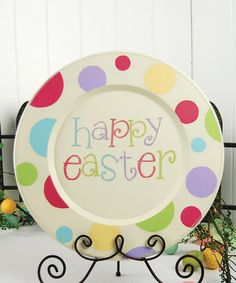 Take a look at this Cream 'Happy Easter' Decorative Plate by Adams & Co. on #zulily today!